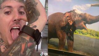 Oli Sykes Bring Me The Horizon and Elephant