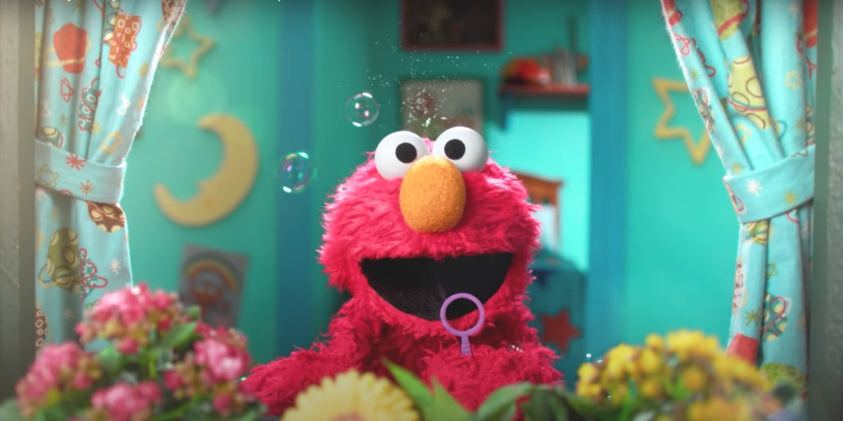 Elmo on Sesame Street