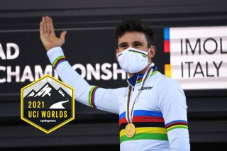 Filippo Ganna of Italy will defend his gold medal and rainbow jersey in the elite men's time trial at the 2021 UCI World Championships