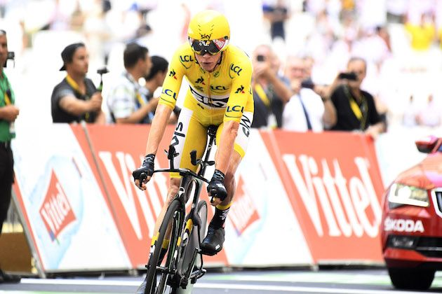 631ada9f2 Chris Froome crosses the line on stage 20 to secure his fourth Tour de  France triumph Credit  Yuzuru Sunada