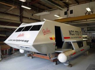 "The Galileo shuttlecraft from TV's ""Star Trek"" is shown fully restored after a yearlong project led by Trek superfan Adam Schneider of New Jersey."