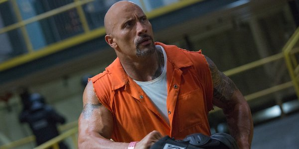 The Fate of the Furious Dwayne Johnson Luke Hobbs fighting his way out of prison