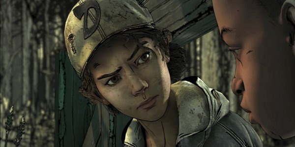 Clementine, from The Walking Dead, looking concerned.