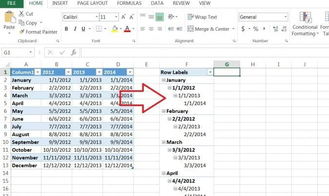 How To Create A Pivot Table Timeline In Excel 2013 Laptop Mag