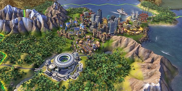 Cities grow in Civilization VI.