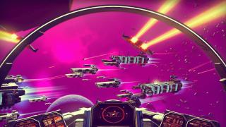 No Man's Sky spaceship battle