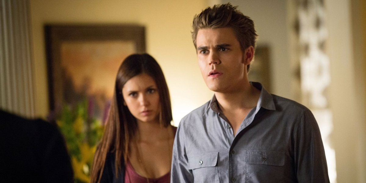 The Vampire Diaries Elena Gilbert Nina Dobrev Stefan Salvatore Paul Wesley The CW