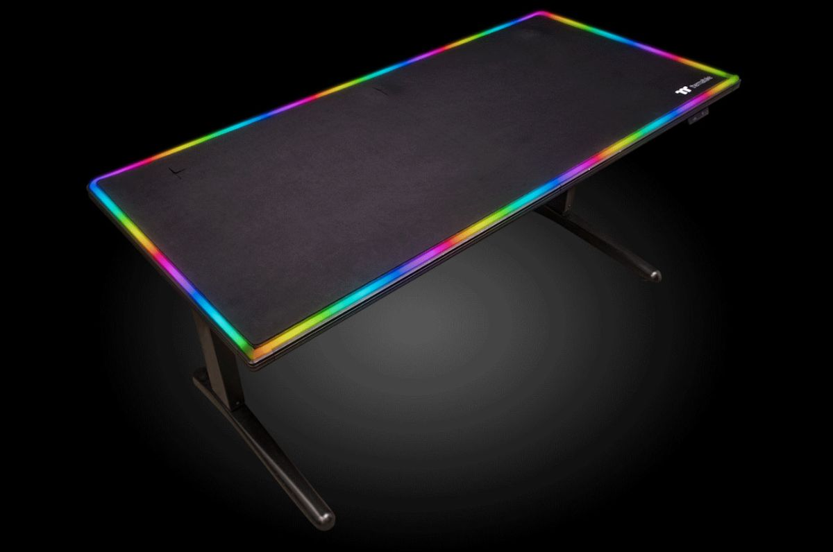 This Rgb Gaming Desk Doubles As A Gigantic Mouse Pad