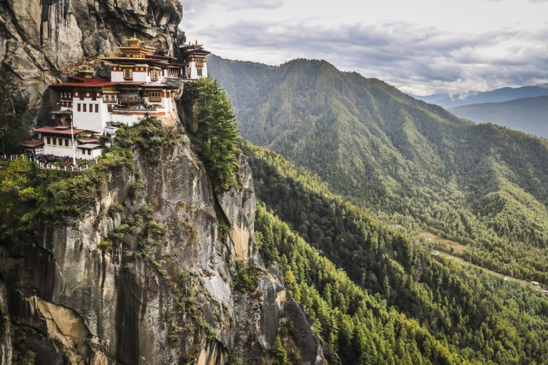 the Tigers Nest Monastery in Bhutan
