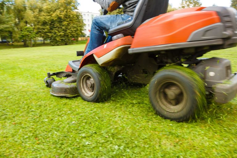 Ride-on mower attachments for yard