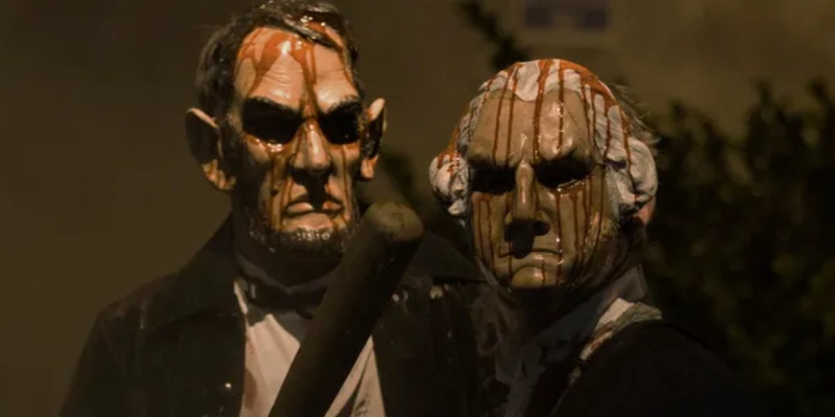 Abraham Lincoln and George Washington in The Purge: Election Year