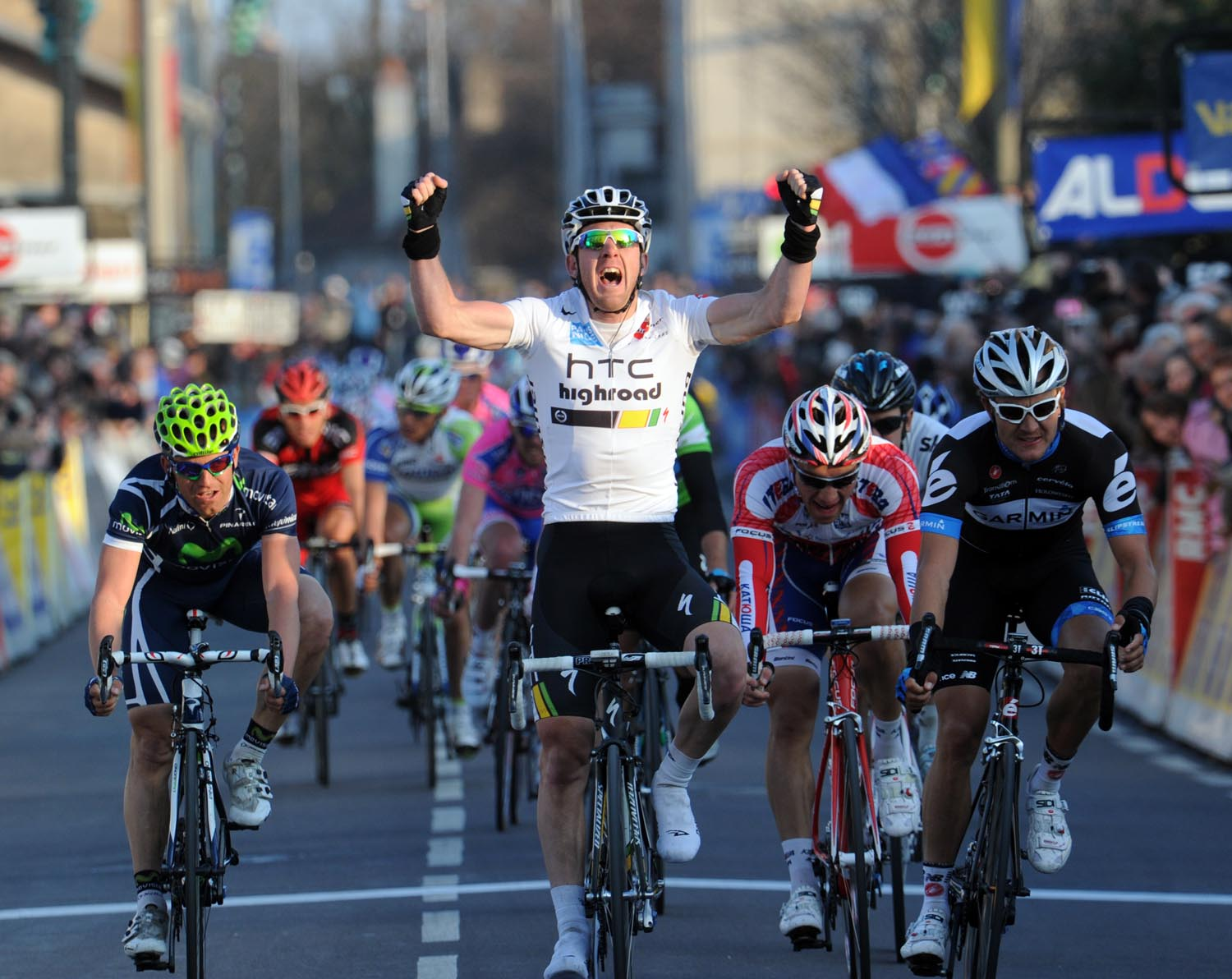 Matt Goss wins, Paris-Nice 2011, stage three