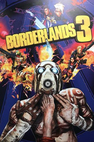 Unused Borderlands 3 box art tried so hard to make the Psycho shoot himself a third time