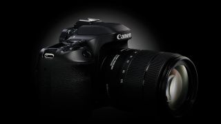 A black Canon EOS 80D camera