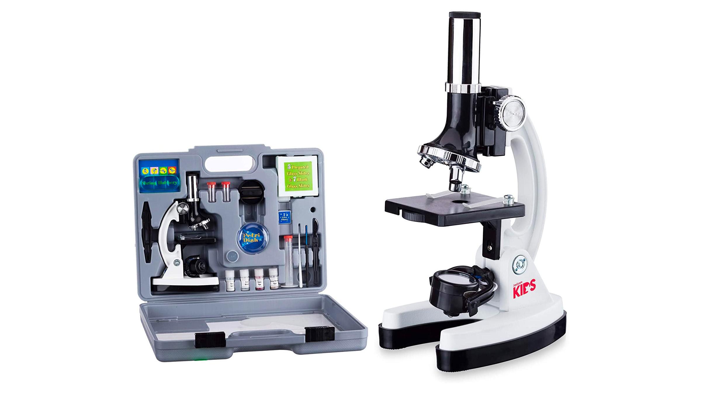 AmScope microscope for kids.