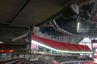 Danley Sound Labrs products in use at Mercedes-Benz Stadium for Super Bowl LIII.