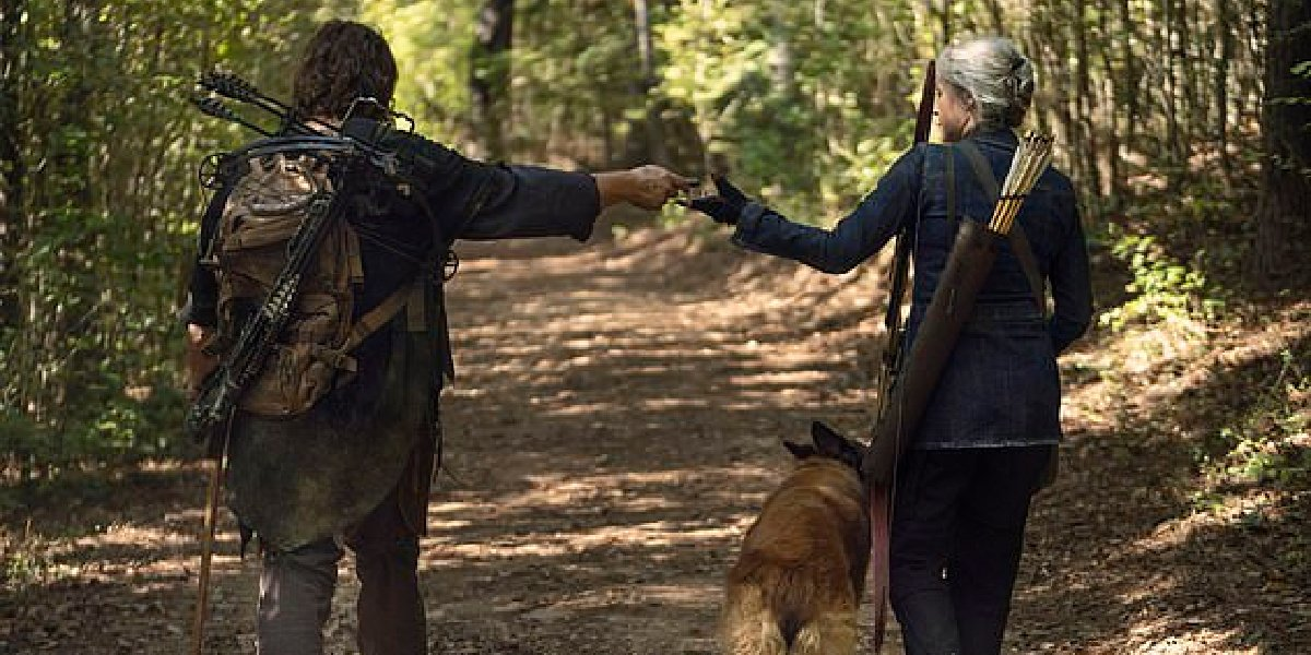 Daryl and Carol in The Walking Dead.