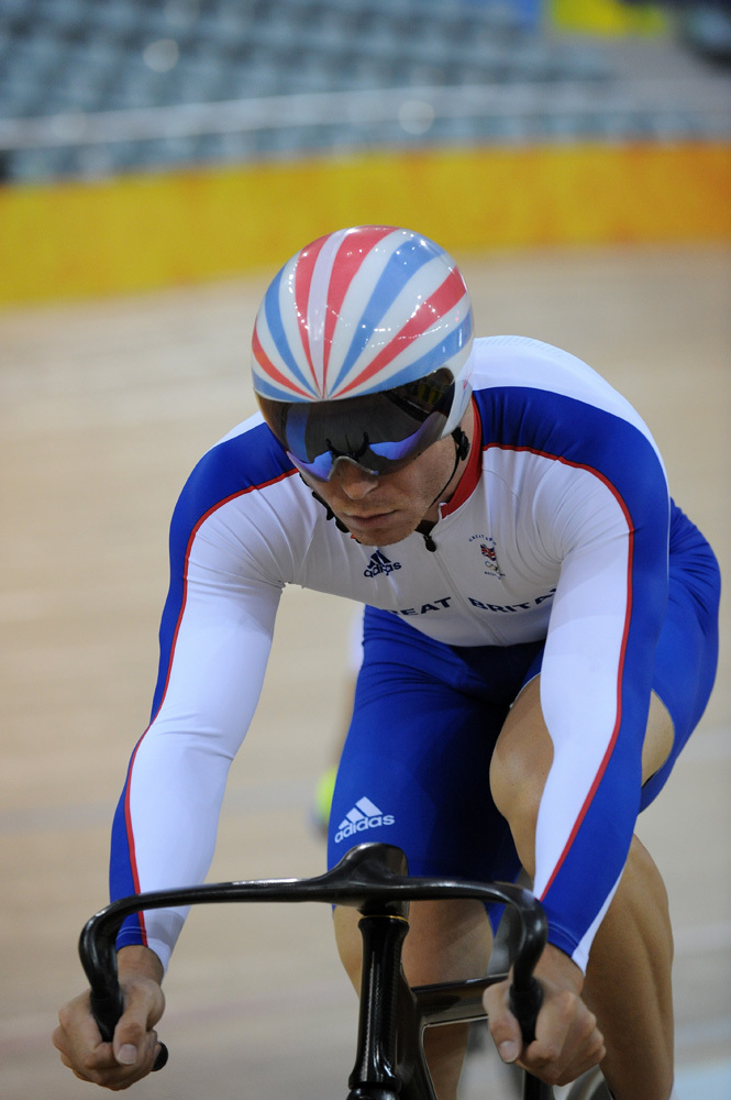 Chris Hoy training Olympic Games 2008