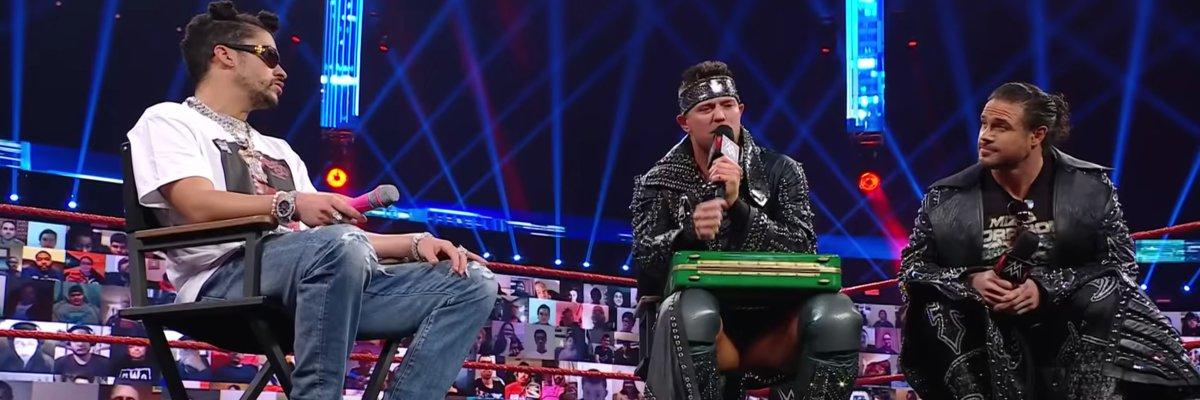 Bad Bunny, The Miz, and John Morrison on Raw