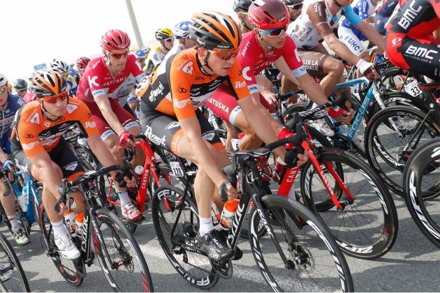 roompot-oranje peloton tour of qatar disc brake