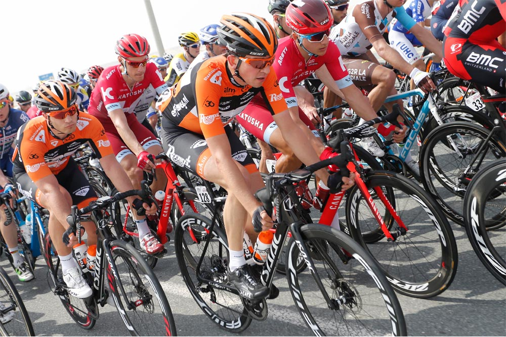 roompot-oranje peloton tour of qatar disc brake