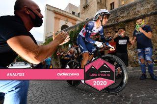 Vincenzo Nibali of Trek-Segafredo in stage 1 time trial at 2020 Giro d'Italia
