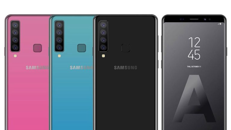 Samsung Unveils the 4-Camera, Midrange Galaxy A9 class=