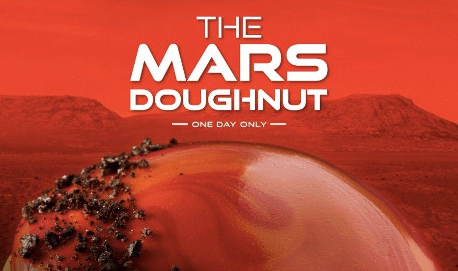 Krispy Kreme makes special 'Mars Doughnut' to celebrate Perseverance rover landing