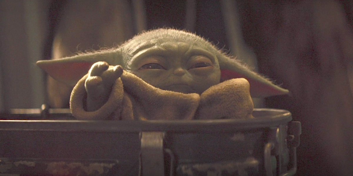 baby yoda using force the mandalorian