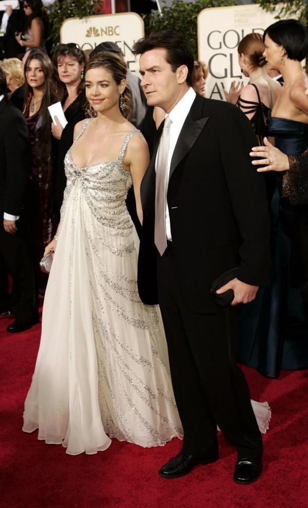 Charlie Sheen and Denise Richards (Kevork Djansezian/AP)
