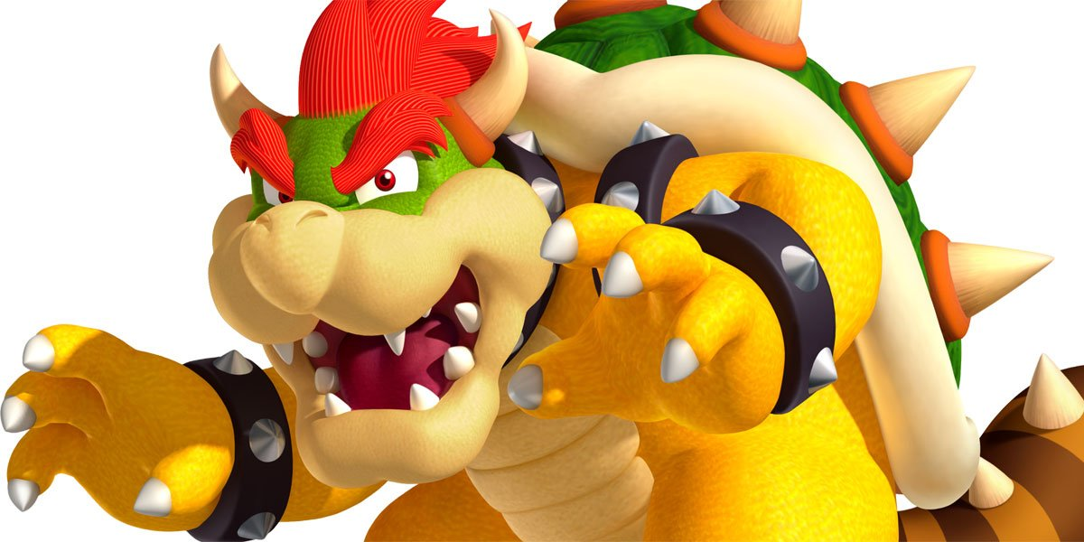 Bowser looking scary.