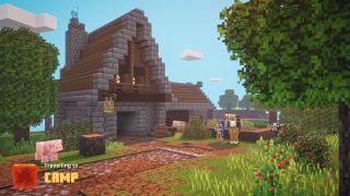 Minecraft Dungeons camp