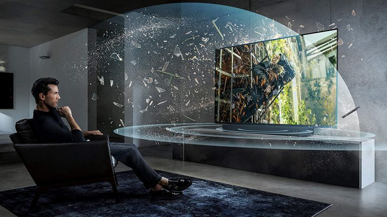 best surround sound system: Panasonic SC-HTB900 in living room