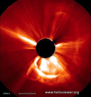Coronal Mass Ejection on July 23, 2012