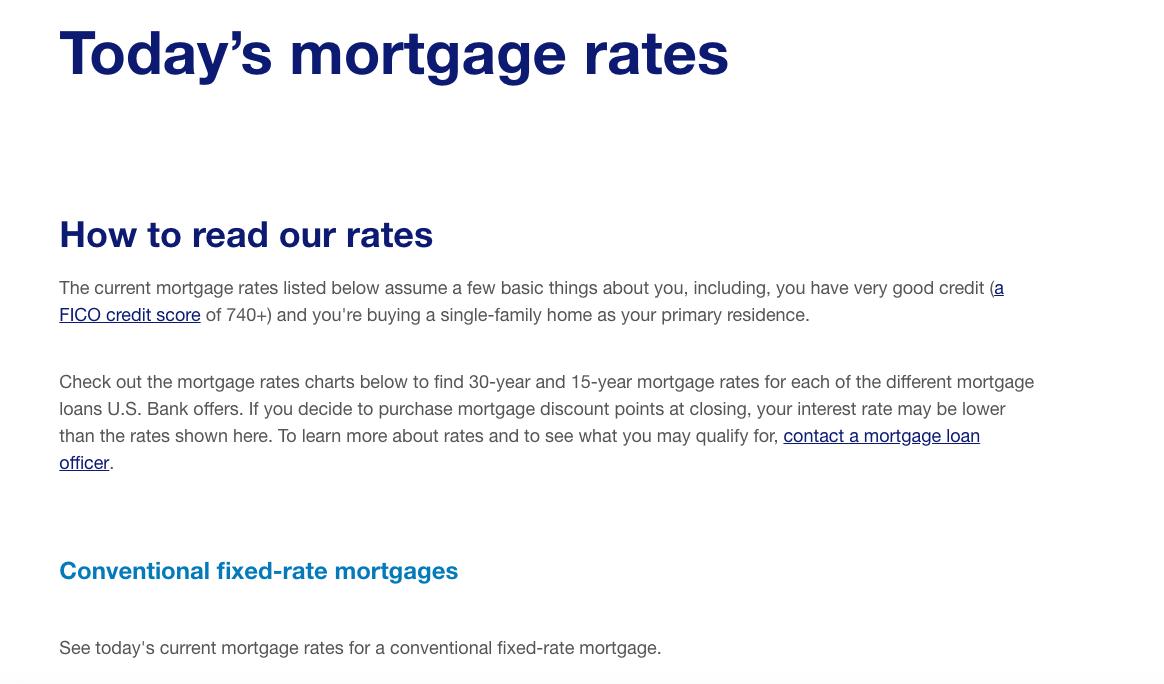 U S  Bank Mortgages Review | Top Ten Reviews