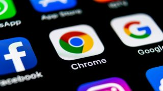 Google Chrome icon on Android device
