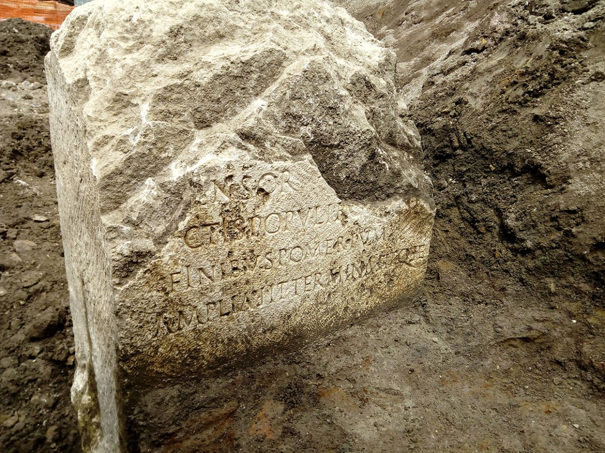 Sacred stone tied to the legend of Romulus and Remus unearthed in Rome