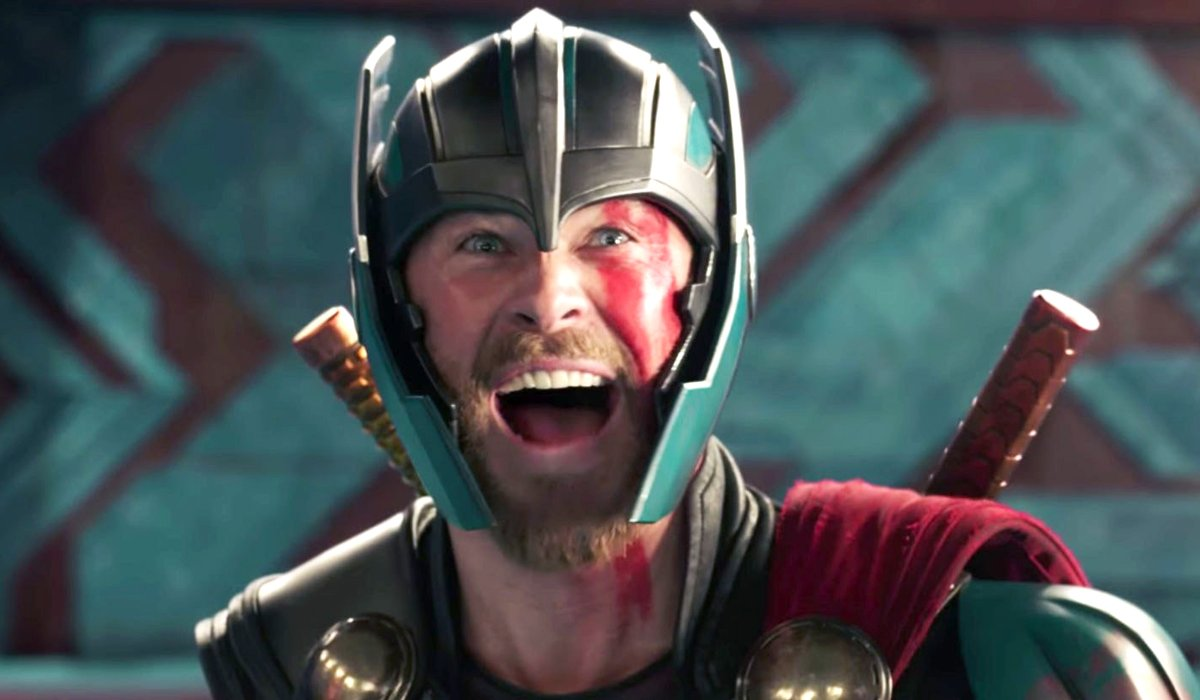 Chris Hemsworth yells yes seeing Hulk in Thor: Ragnarok Marvel
