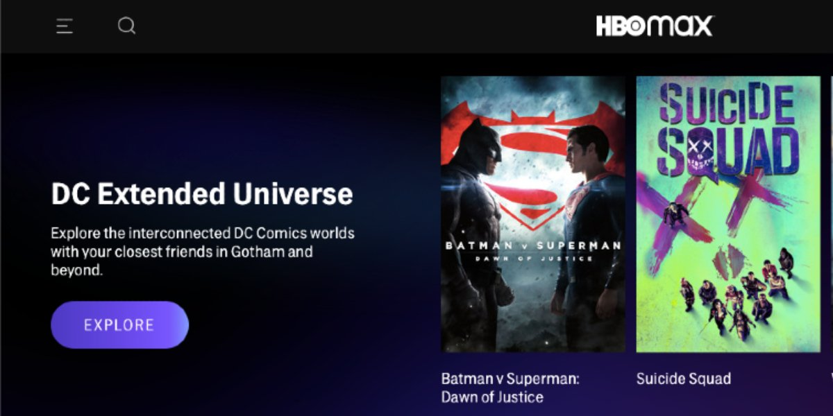 HBO Max DC Extended Universe branding