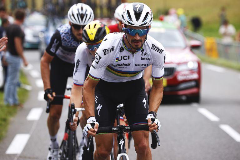 Julian Alaphilippe riding at the 2021 Tour de France