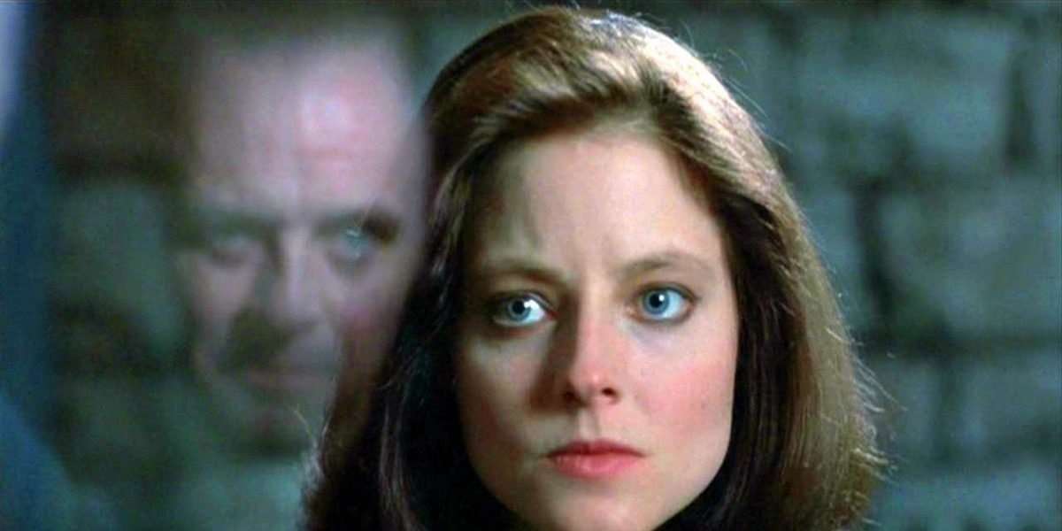Jodi Foster and Anthony Hopkins in The Silence of the Lambs