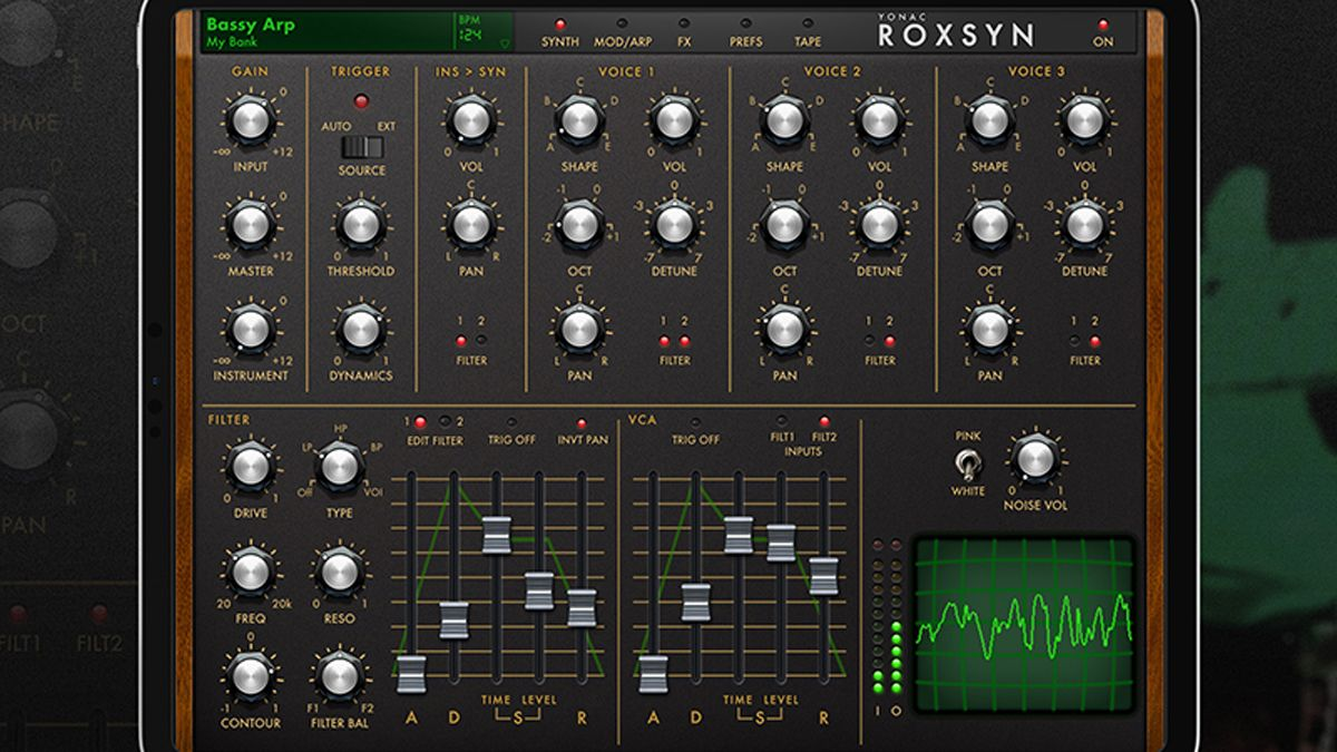 Roxsyn is an iOS synth that you can play from your guitar with no MIDI involved