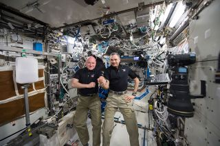 Scott Kelly and Kornienko on ISS