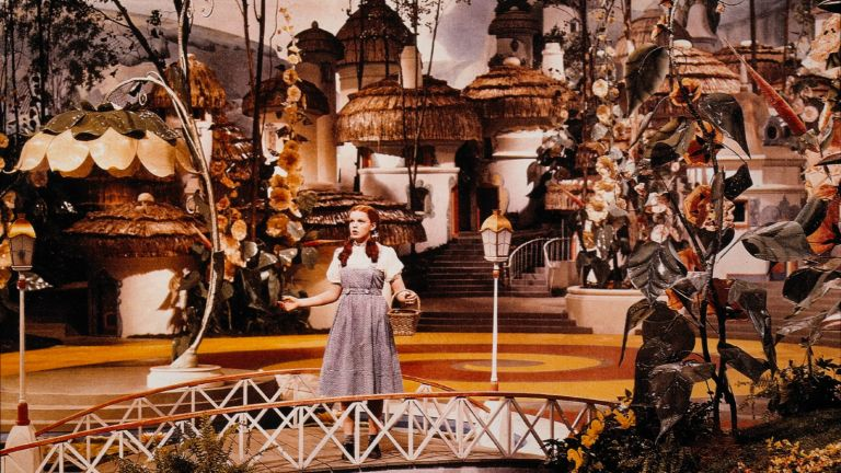 """Judy Garland, on-set of the Film, """"The Wizard of Oz"""", 1939."""