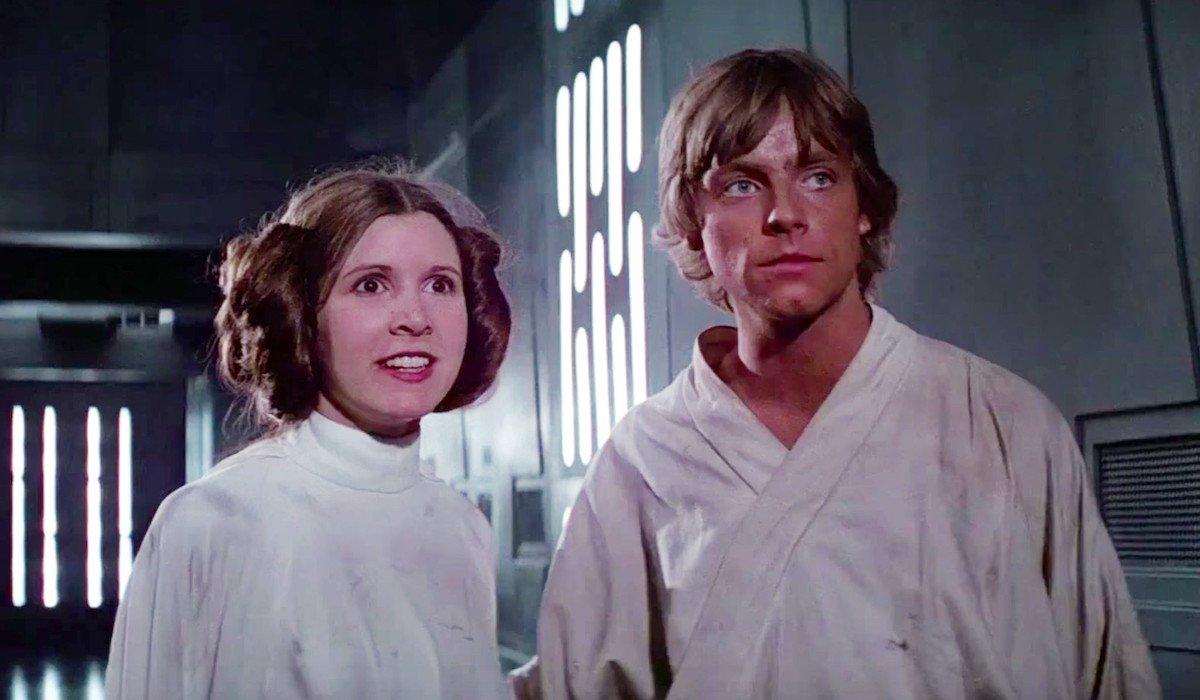 Luke and Leia in A New Hope