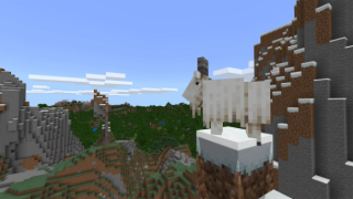 A goat in Minecraft.