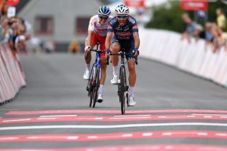 Philipp Walsleben gets the measure of Niki Terpstra on the final Arctic Race of Norway stage