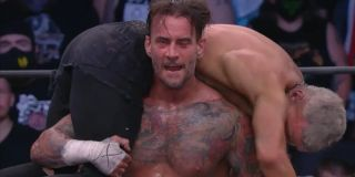 """CM Punking putting Darby Allin """"to sleep"""" at AEW All Out 2021"""