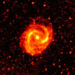 M91 galaxy infrared image