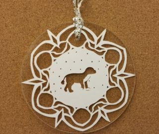 """The """"Boflake"""" ornament from 2012."""